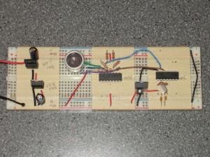 Acoustic transmitter circuit