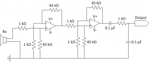 Acoustic receiver circuit