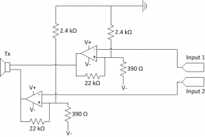 Acoustic transmitter circuit