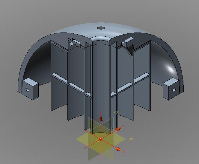 Spherical Autonomous Underwater Vehicle hull