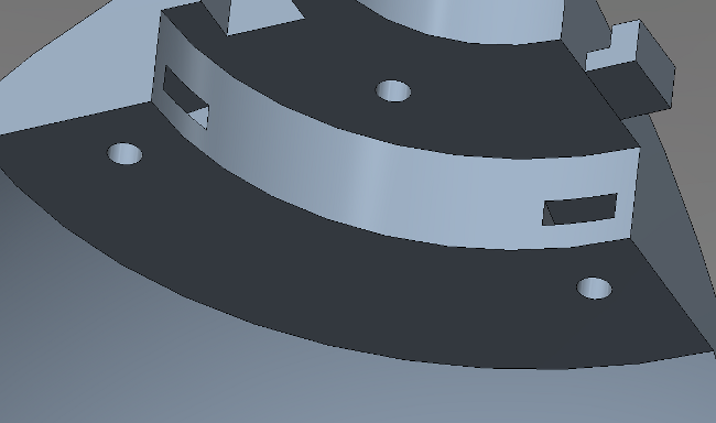 AUV hull inner component mounting points