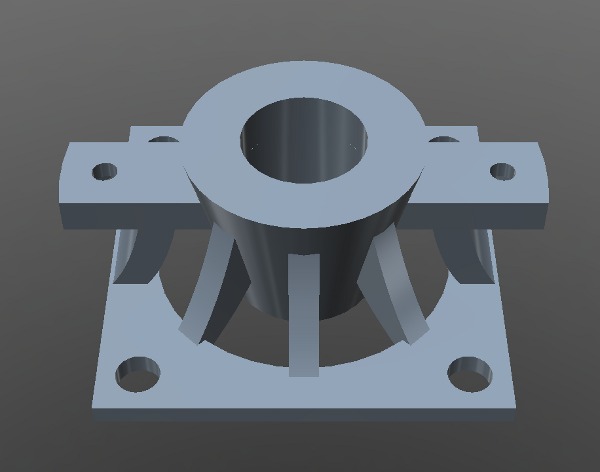 Model of a new version of the valve connector structure.